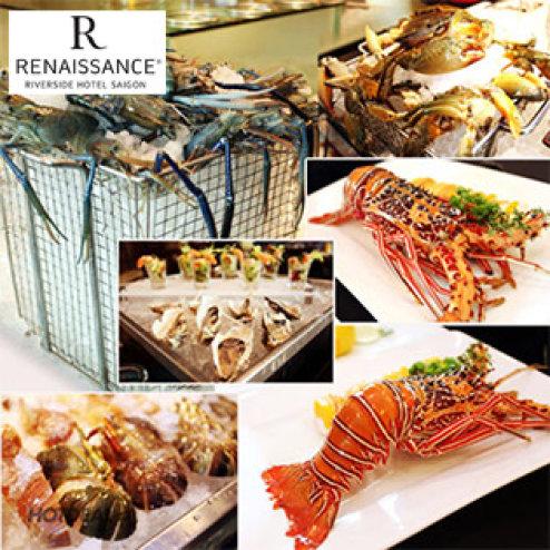 Buffet Tối Hải Sản Tôm Hùm Tại Khách Sạn 5 Sao Renaissance Riverside Sài Gòn - Bao Gồm Nước Uống