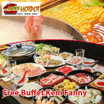 Buffet Trưa Lẩu Nhật, Hải Sản & Bò Mỹ, Free Buffet Kem Fanny, Tráng Miệng, Món Ăn Kèm – Choice Hotpot