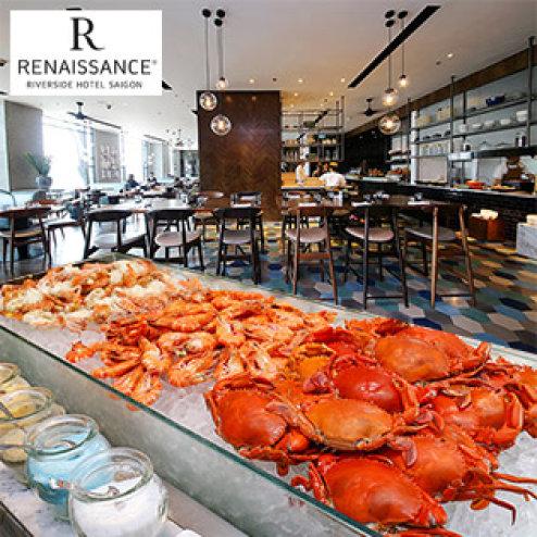 Buffet Trưa Hải Sản Cao Cấp Tại Khách Sạn 5 Sao Renaissance Riverside Sài Gòn - Bao Gồm Nước Uống