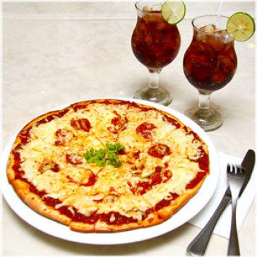 Pizza Đậm Chất Ý + 02 Coca Cho 02 Người Tại Blue Diamond Hotel