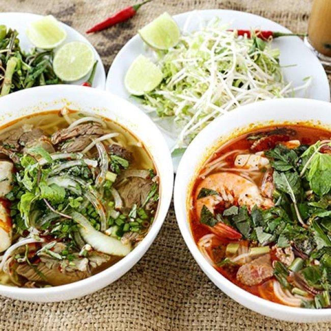 Combo 2 Bún Bò/ Bún Thái + 2 Nước Uống Tự Chọn - Nhà Hàng Sân...