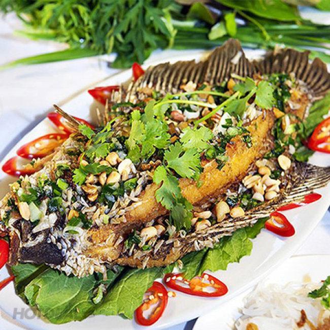 Set Cá Tai Tượng Chiên Xù Nguyên Con (800gr - 1kg) - Nhà Hàng Tân Hoa...