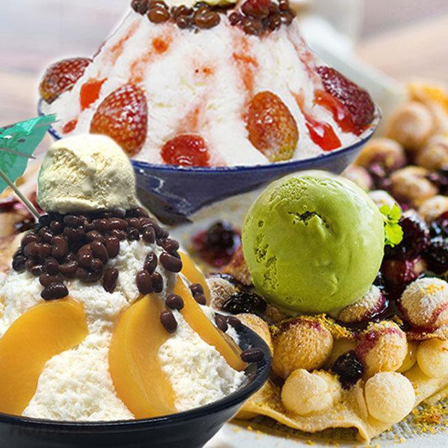 Combo Bingsu + Waffle Hồng Kông + Takoyaki Hấp Dẫn Tại Mr.Cafe