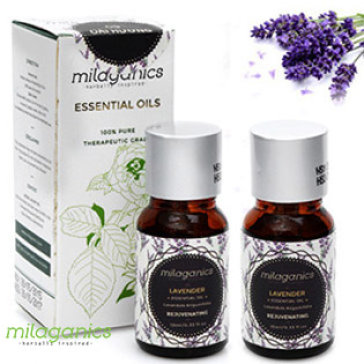Combo 2 Tinh Dầu Lavender Milaganics 10ml – Cải Thiện Giấc Ngủ, Giảm Stress