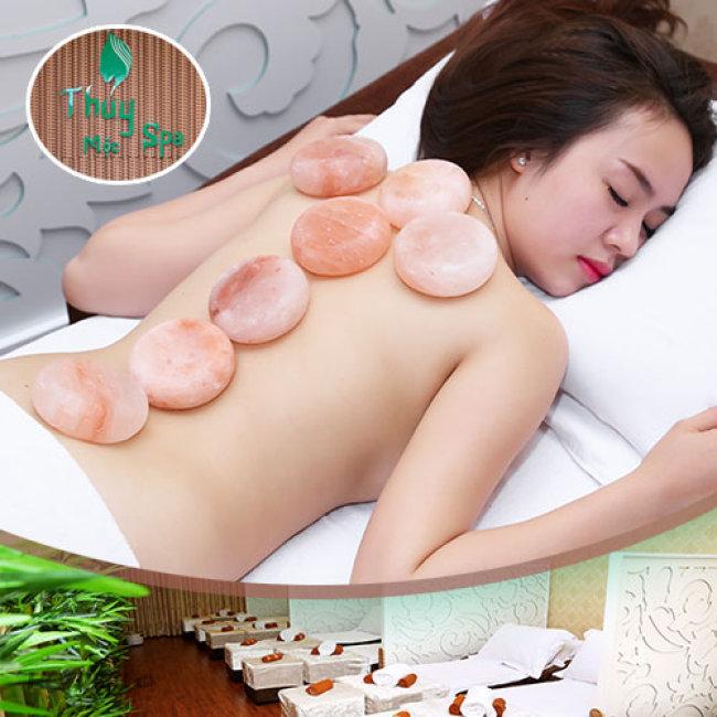 Thủy Mộc Spa - Massage Foot + Massage Body Đá Muối Himalaya + Steambath +  Ngâm Chân + Đắp Mặt Nạ + Túi Đắp Mắt + Túi Đắp Sống Lưng