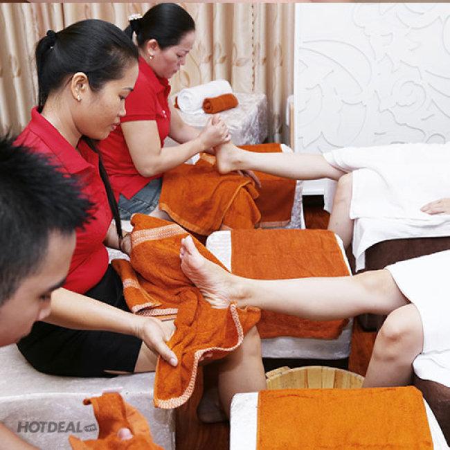 Thủy Mộc Spa - Massage Foot + Massage Body Đá Muối Himalaya + Steambath...