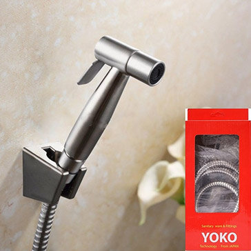 Bộ Vòi Xịt Vệ Sinh Yoko Inox 304 Không Gỉ Cao Cấp BH 1 Năm