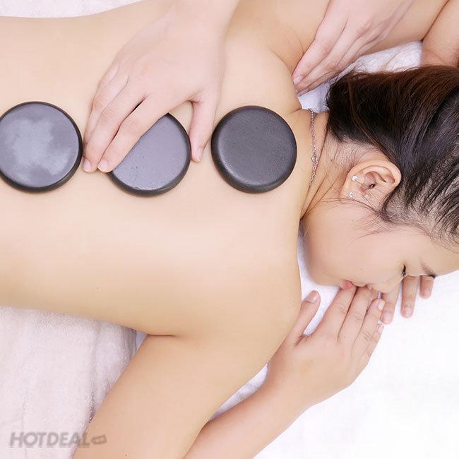 Massage Body Đá Nóng + Ngâm Chân Thảo Dược + Massage Foot + Đắp...