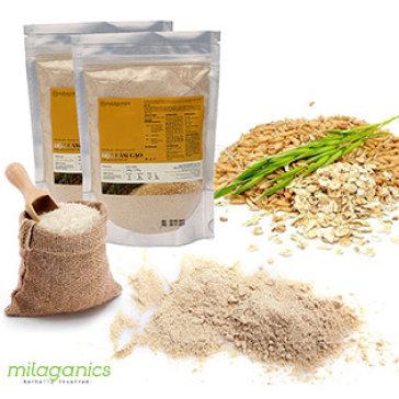 Combo 2 Bịch Cám Gạo Nguyên Chất Milaganics 200G/ Bịch