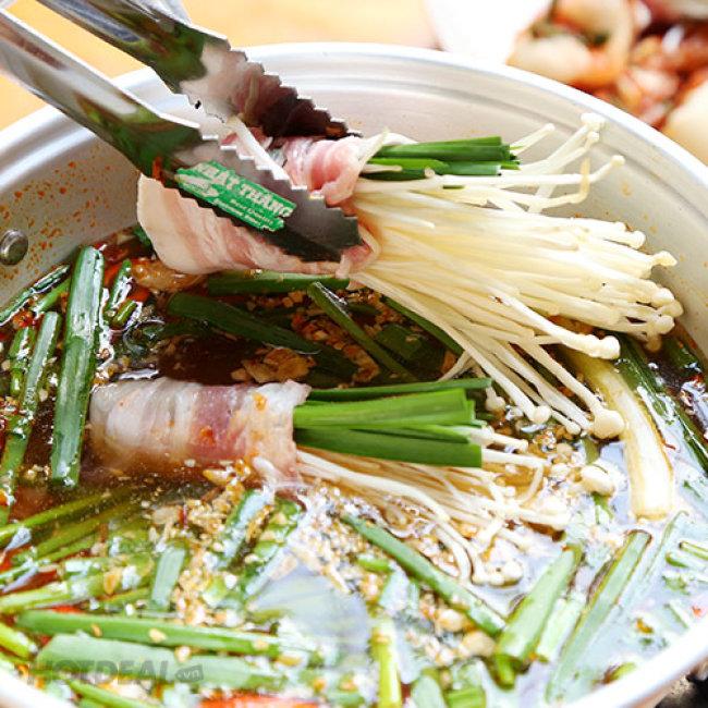 Yaki Combo Lẩu Kim Chi Hàn Quốc + Sườn Nướng Tại Bàn Cực Hấp...