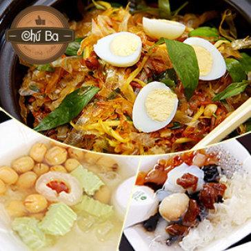 Combo 2 Chè Thảo Dược/ Hạt Sen Trà Xanh + Bánh Tráng Trộn Cho 2...