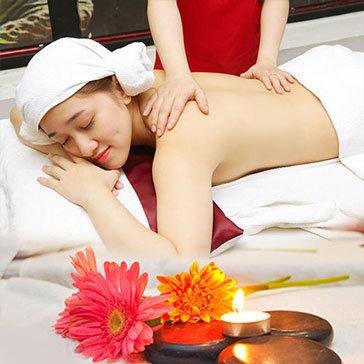 Dịch Vụ Xông Hơi, Massage Body Thư Giãn Tinh Dầu Tràm (90 Phút) + Tặng Đắp Mặt Nạ Trái Cây Bạch Quả Tại Spa F'miss