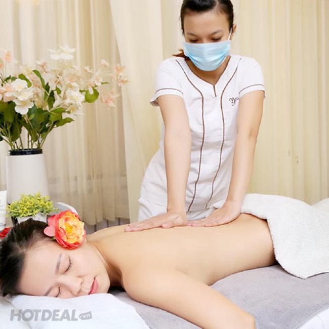 Massage Body Đá Muối Himalaya + Chạy Vitamin C + Đắp Mặt Nạ Yến...