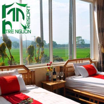 Nghỉ Dưỡng Tại Tre Nguồn Resort Phú Thọ + Miễn Phí Ăn Sáng Tự Chọn, Tắm Khoáng 2N1Đ - Cho 02 Người