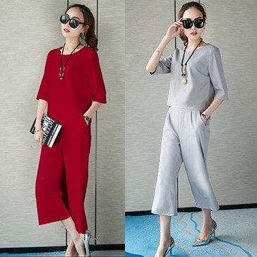 Set Quần Cullotes & Áo Tay Lỡ Fashion