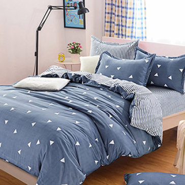 Bộ Drap Gối Cotton Polyester HQ 1.6M BST02 TH Lys At Home