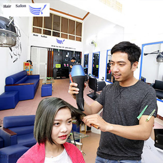 Hair Salon Khoa - Uốn/ Duỗi/ Nhuộm + Cắt + Gội + Sấy - Tặng Hấp...