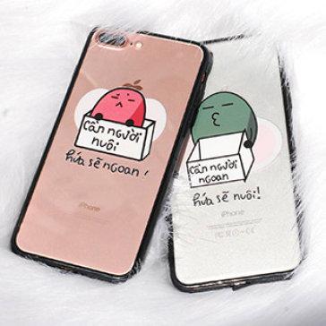 Ốp Lưng IPhone Đậu Đen Cần Người Ngoan Hứa Sẽ Nuôi