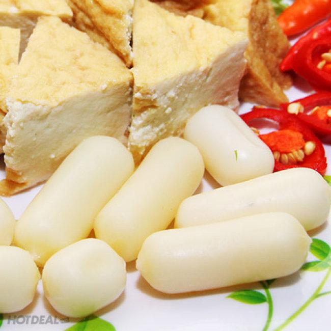 Combo Bánh Gạo Topokki Nhân Phô Mai + 1 Gói Nước Sốt Tại Nhà Hàng...