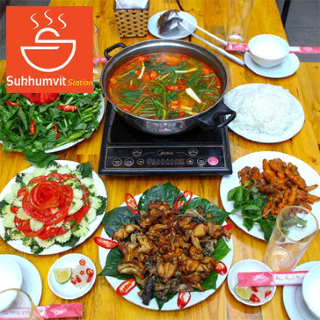 Lẩu Ếch Măng Cay Kiểu Thái Cho 04 Người – NH SUKHUMVIT STATION 135...