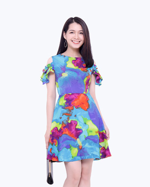 Đầm Xòe Tay Rớt TH Lidobuy