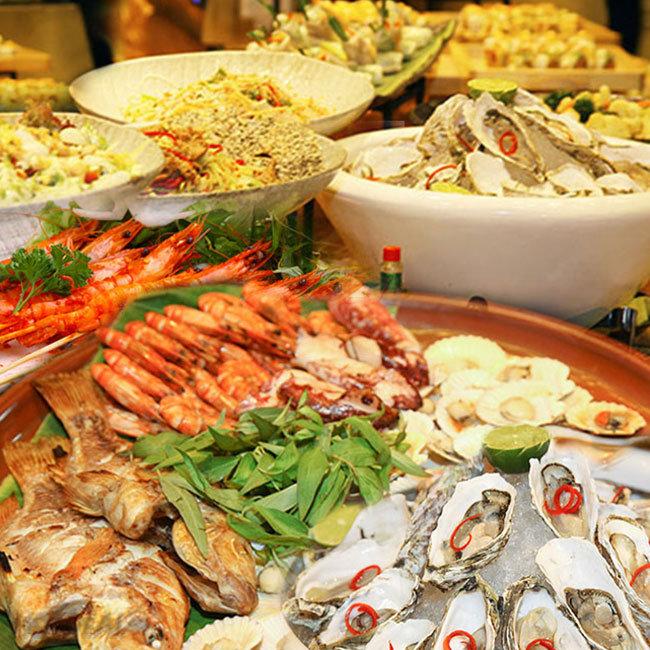 Buffet Cuối Tuần Teppanyaky Hải Sản, BBQ, Sushi + Beer Draught Uống...