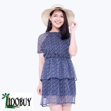 Đầm Xếp Tầng Hoa TH Libobuy