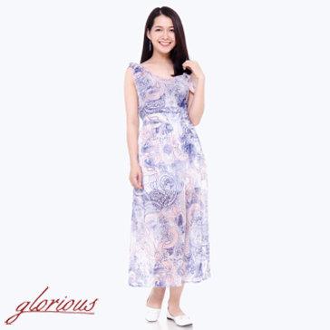 Đầm Maxi Họa Tiết-TH Glorious