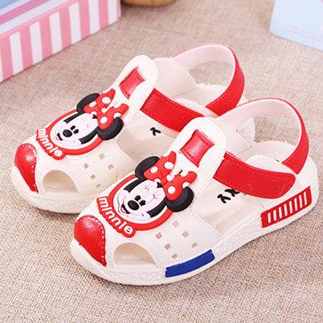 Giày Mickey Có Quai Cho Bé