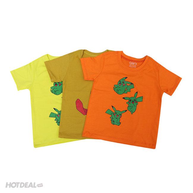 Combo 3 Áo Thun Cho Bé Nhiều Màu Sắc Size 1 Đến 8