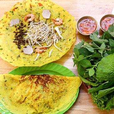 Combo 2 Bánh Xèo Bạc Liêu Nổi Tiếng + Rau Rừng + 2 Sâm Lạnh + 2 Khăn - Tân Hương Nam Quán