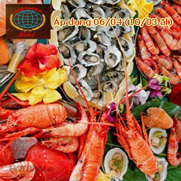 New Pacific-Buffet Lẩu, Nướng, Hải Sản T4 - T5 - T6-FREE Nước, Kem, Trái Cây