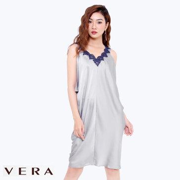 Đầm Trễ Vai Phối Ren CVDNW1410SL - TH Vera Chính Hãng