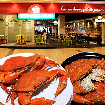 Nhà Hàng Orchard Road Singapore - Combo Cua Sốt Ớt + Lẩu Cua Măng Chua Cực Ngon Cho 2 Người