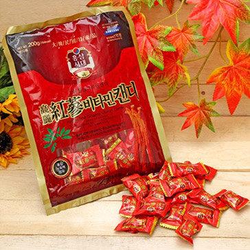 Kẹo Hồng Sâm Hàn Quốc 200gr/Gói Tại Cửa Hàng Yến Sào Thiên Nhiên