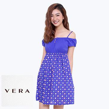Đầm Mặc Nhà Phối Họa Tiết CL20599C TH Vera Chính Hãng