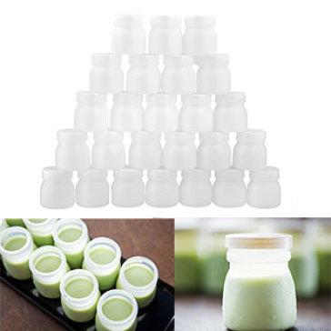Combo 25 Hộp Làm Sữa Chua Bằng Nhựa Cỡ Lớn 140ML