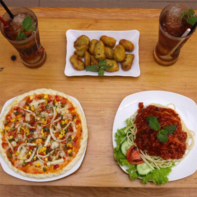 Hấp Dẫn Set Pizza, Mỳ Ý Kèm Đồ Uống Dành Cho 02 Người Tại...