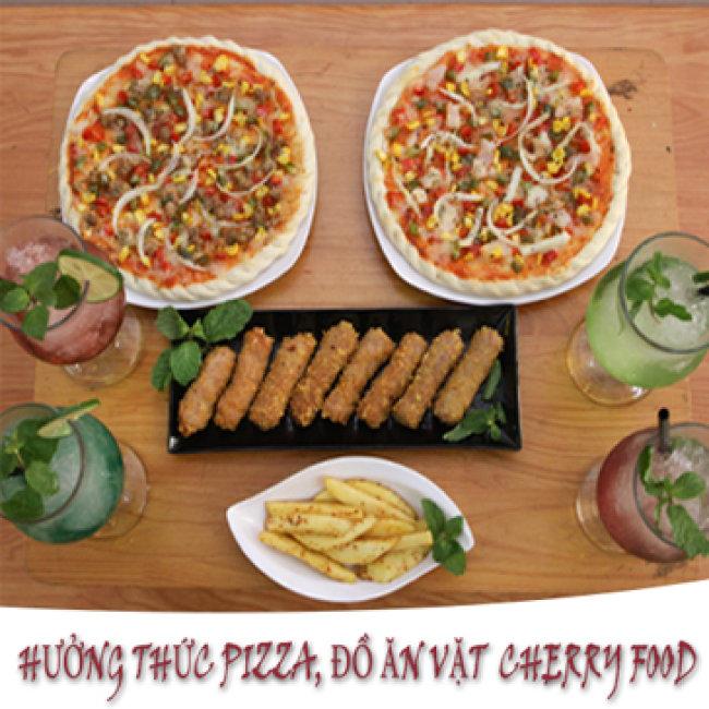 Thưởng Thức Pizza, Đồ Ăn Vặt Và Mojito Mát Lạnh Cho 4N Tại...