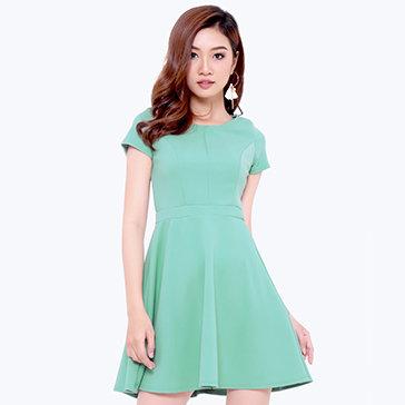Đầm Xòe Viền Li Cách Điệu