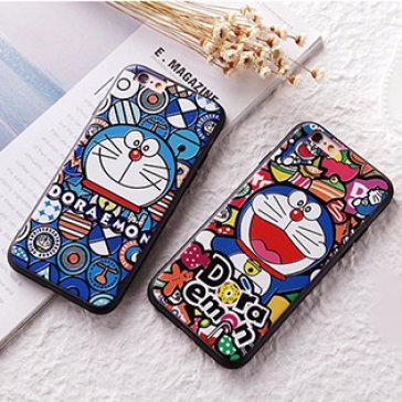 Ốp Lưng Iphone Họa Tiết Doraemon 3D Khay Dẻo Cực Đẹp