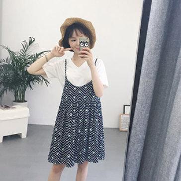 Set Đầm 2 Dây & Áo Thun Fashion