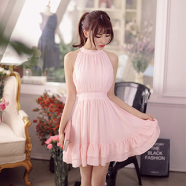 Đầm Yếm Nhún Bèo Hana