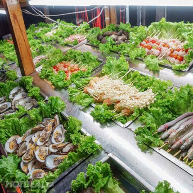Buffet BBQ Nướng Tôm Càng Xanh Và Hản Sản Tại Bàn Hơn 50 Món -...