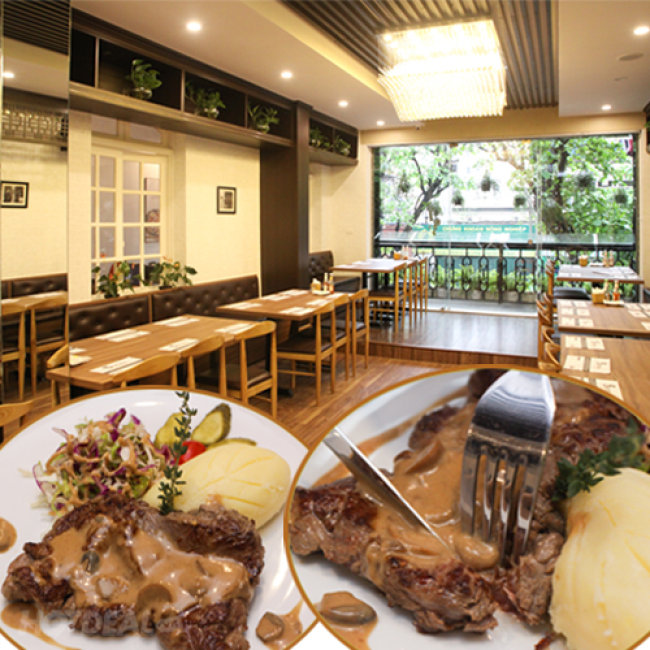 Set Bít Tết Bò Mỹ Đặc Biệt - Nhà Hàng Sentosa 46 Phan Bội Châu