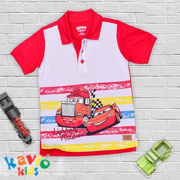Áo Thun Polo Bé Trai Sọc In Hình - TH Kaivo Kids