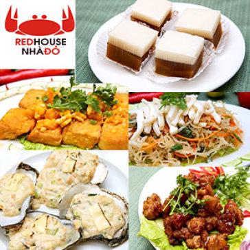 Nhà Hàng Red House - Set 5 Món Ăn Tự Chọn No Căng Bụng Cho 4 Người