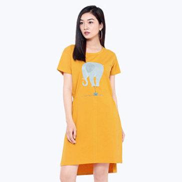 Đầm Bo Eo Lệch Tà Trẻ Trung