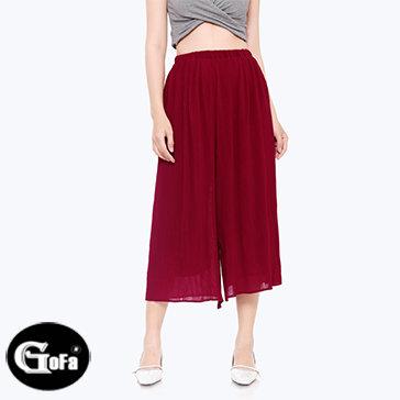 Quần Culottes Dập Ly Hot Trend