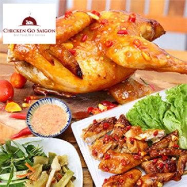 Chicken Go Saigon - Gà Ta 1,2kg Nướng Muối Ớt Sốt Mayonaise